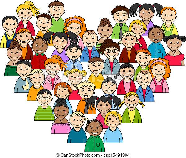 cuore, adolescenti, bambini - csp15491394