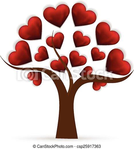 Cuore albero amore logotipo cuore amore albero for Clipart cuore