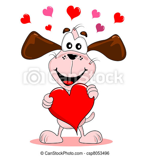 Cuore amore cartone animato cane cuore amore cane for Clipart cuore