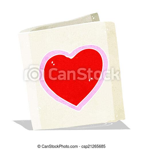 cuore, amore, cartone animato, scheda - csp21265685