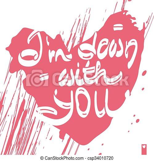 Cuore Amore Stilizzato Dichiarazione Lei Giu Cuore Amore