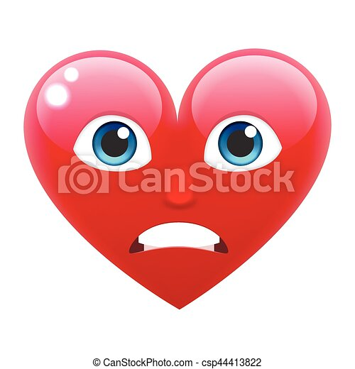 Cuore Arrabbiato Imbarazzato Sorriso Emoticon Emoji