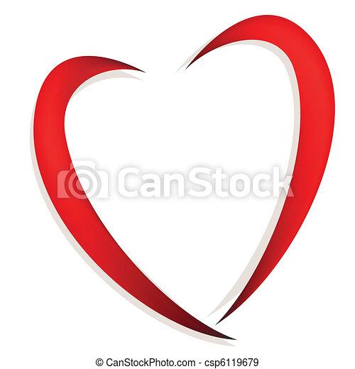 cuore, astratto - csp6119679