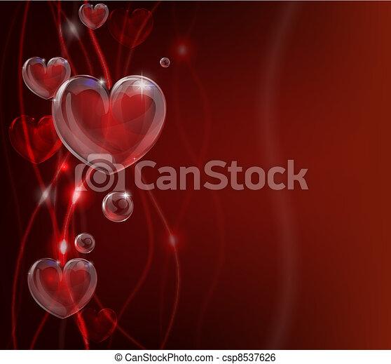 cuore, astratto, giorno valentines, backg - csp8537626
