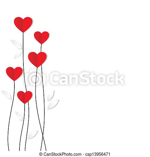 cuore, card., paper., valentines, vacanza, giorno - csp13956471