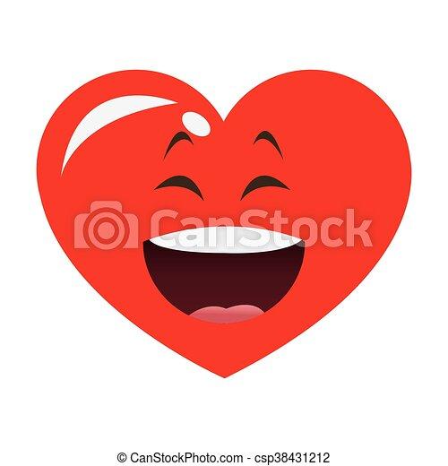 Cuore cartone animato ridere icona appartamento cuore for Clipart cuore