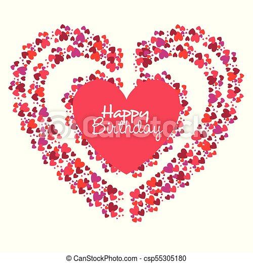 Cuore Compleanno Amore Scheda Felice Cuore Vettore Amore