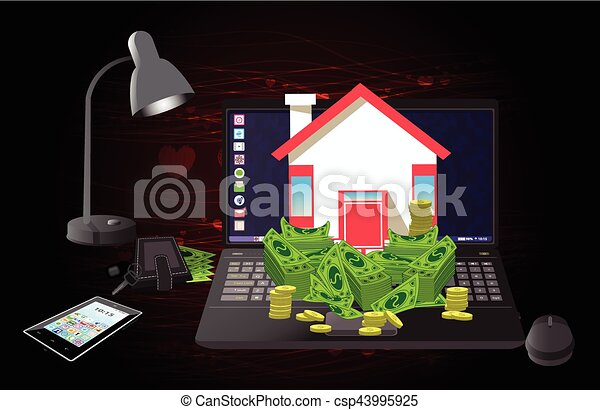 Cuore computer soldi borgogna casa chiave cuore for Aprire i piani casa artigiano concetto