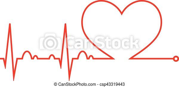 cuore, cycle., medico, cardiogram., beat., cardiaco, icon. - csp43319443