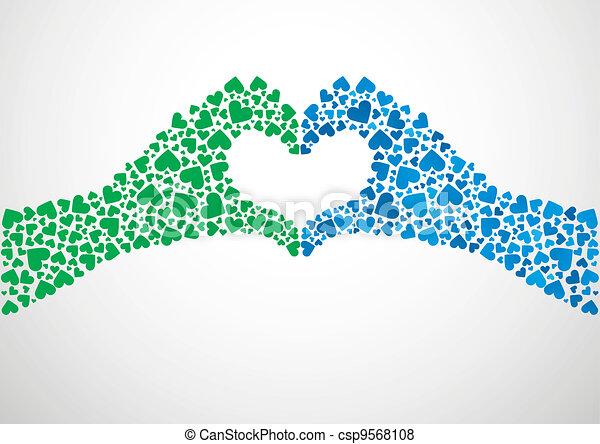 cuore, mani - csp9568108