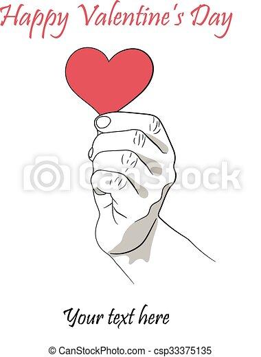cuore, mano, sinistra - csp33375135