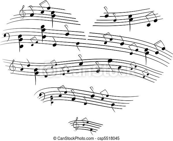 cuore, musica - csp5518045