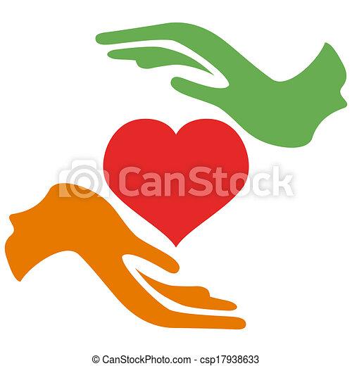 cuore, presa porge - csp17938633
