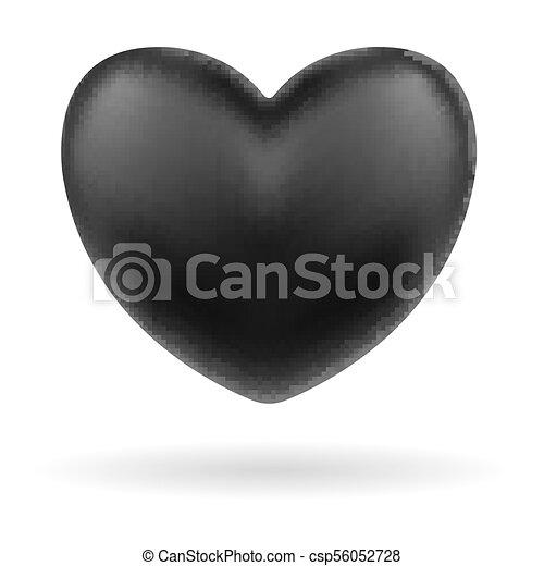 Cuore Sfondo Nero Logotipo Bianco Icona