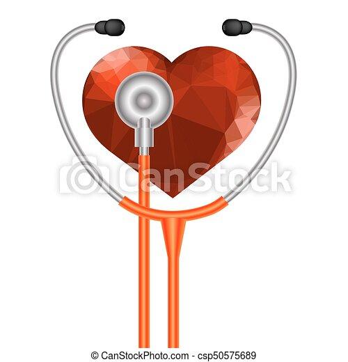 cuore, simbolo, stetoscopio - csp50575689