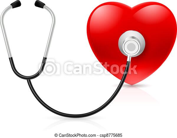 cuore, stetoscopio - csp8775685