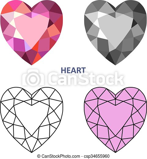 Cuore taglio gemma cuore taglio contorno icone for Clipart cuore