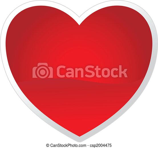 cuore, tuo, vettore, valentine\'s, giorno, design. - csp2004475