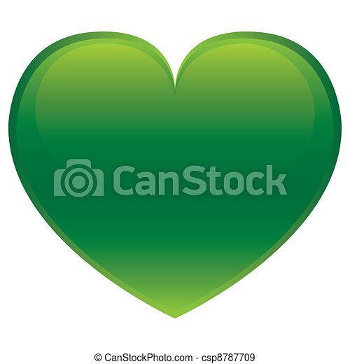 cuore, vettore, -, verde - csp8787709