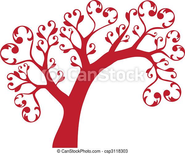 cuori, albero - csp3118303