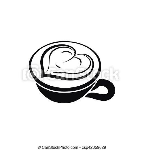 Cuori Cima Cappuccino Disegno Tazza Caffè Cappuccino Tazza
