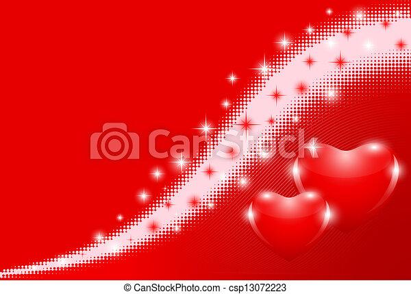cuori, sfondo rosso - csp13072223