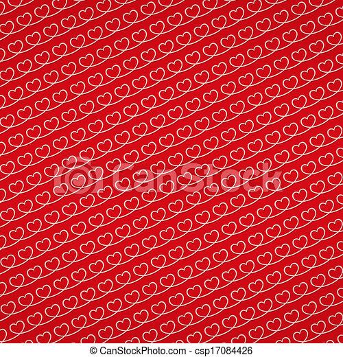 cuori, sfondo rosso - csp17084426