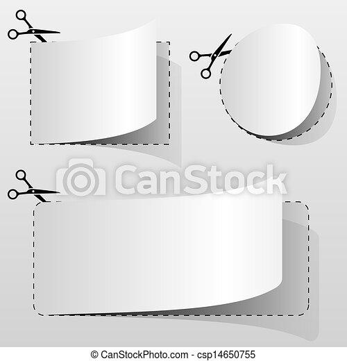 cupão, anunciando, em branco - csp14650755