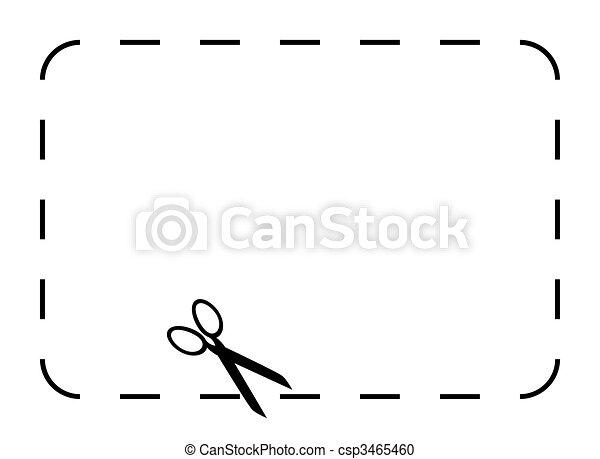 cupão, em branco, comprovante, ou - csp3465460