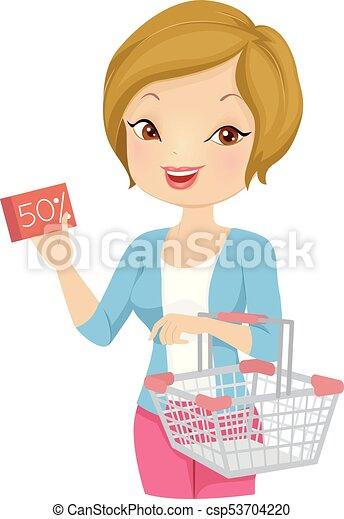 Una ilustración de cupones de chicas - csp53704220