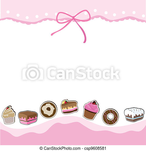 cup cake birthday card - csp9608581