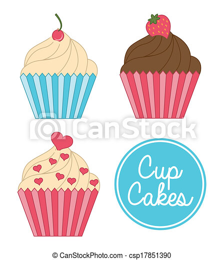 cup cake birthday   - csp17851390