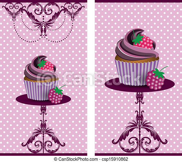 cup cake blackberry - csp15910862