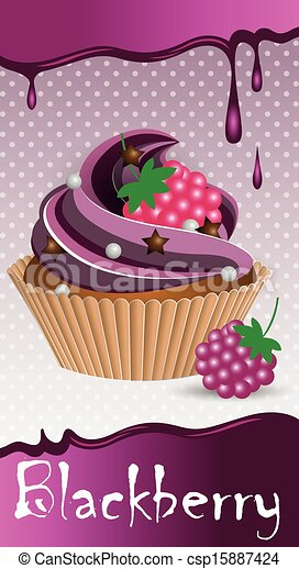 cup cake blackberry - csp15887424