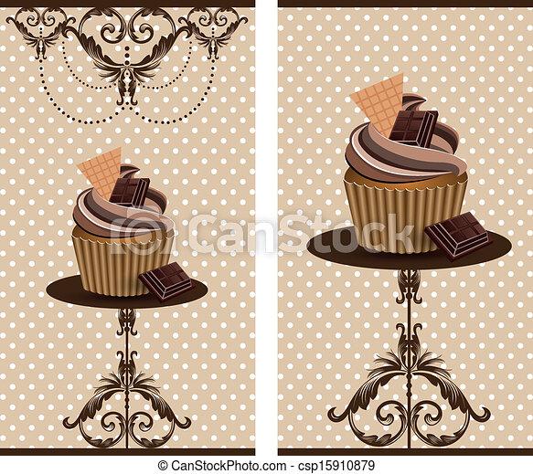 cup cake chocolate - csp15910879