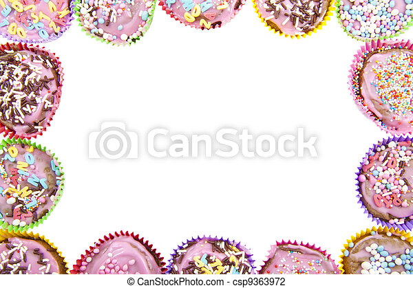 Cup cake frame - csp9363972