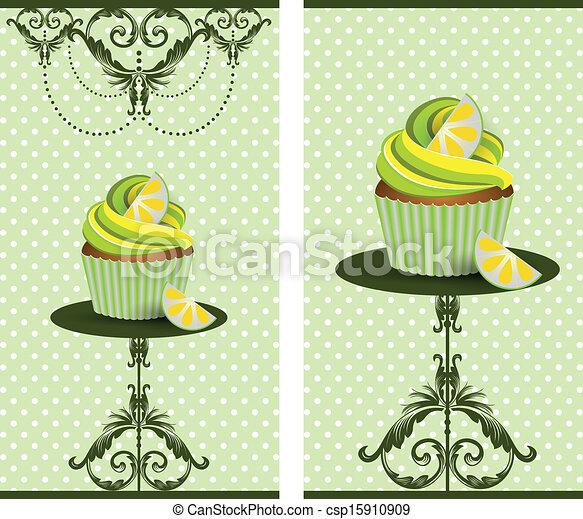 cup cake lemon - csp15910909