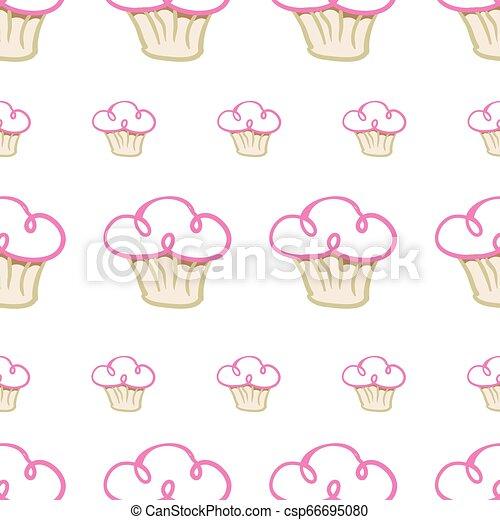 Cup cake pattern design - csp66695080