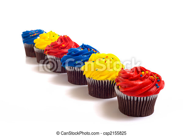 Cup Cakes on White - csp2155825