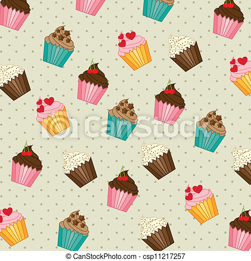 cup cakes pattern - csp11217257