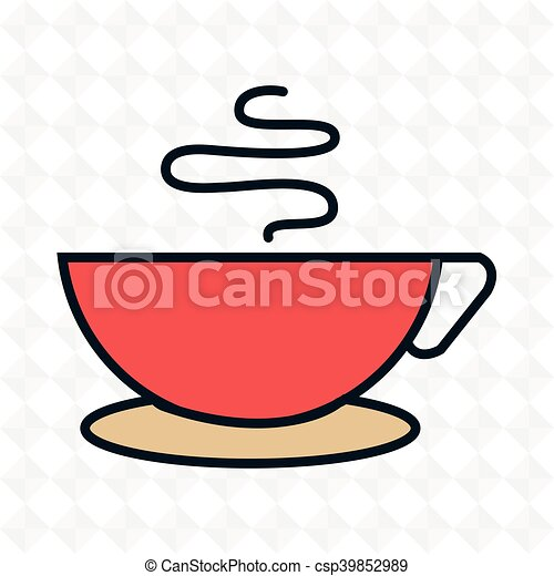 cup coffee drink icon - csp39852989