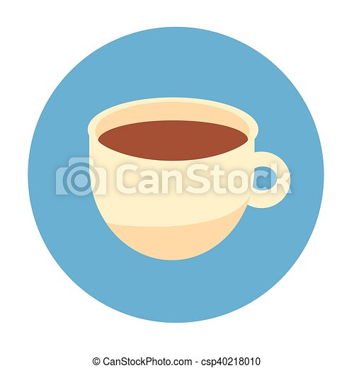 Cup Coffee Tea Beverage Morning Drink Icon - csp40218010