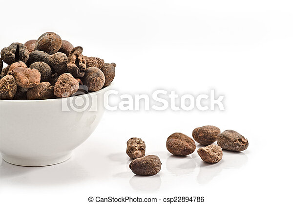 Cup full of shea nuts - csp22894786