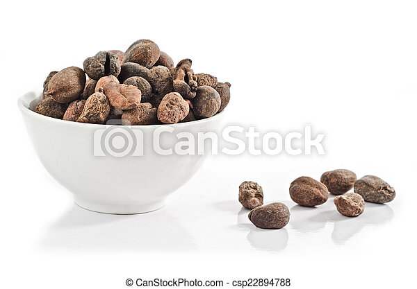 Cup full of shea nuts - csp22894788