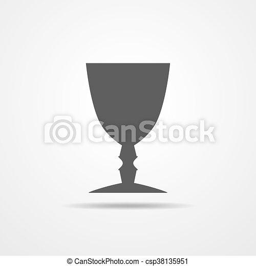 Cup icon - vector illustration. - csp38135951
