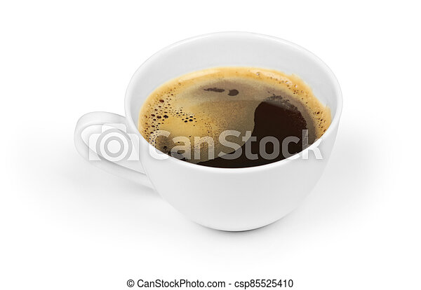 cup of black coffee isolated on white - csp85525410
