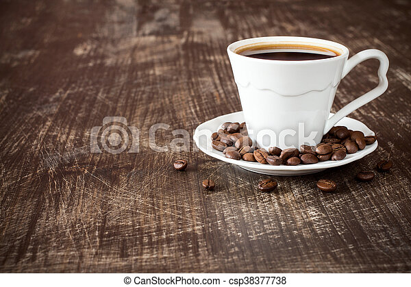 Cup of black coffee. - csp38377738