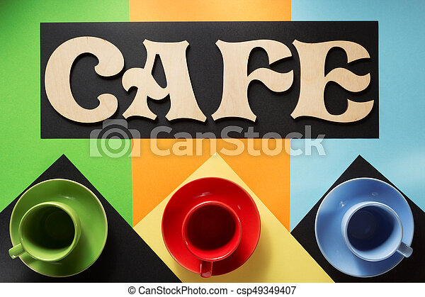 cup of coffee and letters - csp49349407