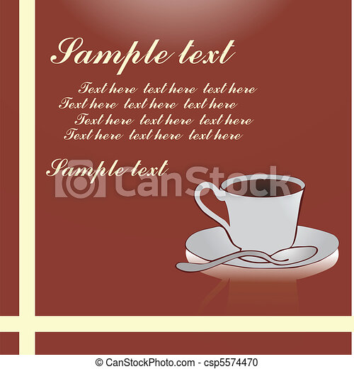 Cup of coffee background - csp5574470