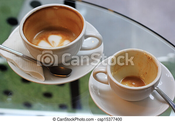 cup of coffee finish drink - csp15377400
